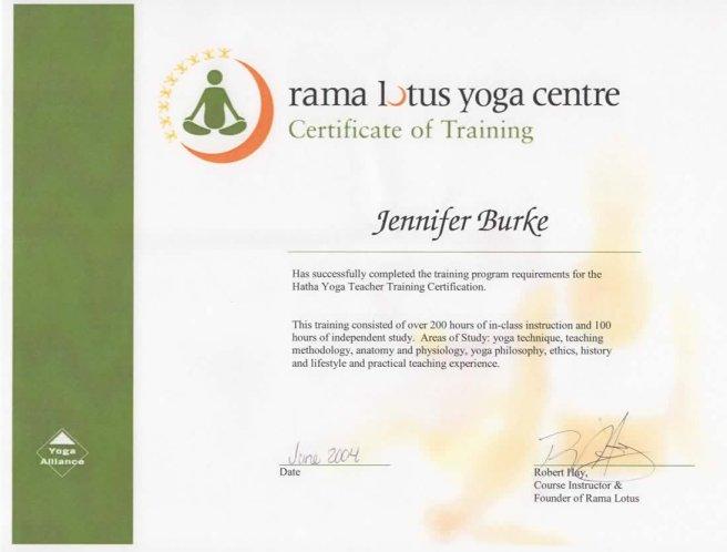 rama lotus yoga cert