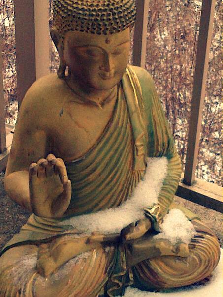 snowy buddha edit