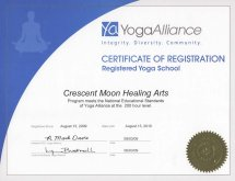 yoga registered school