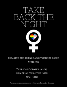 take back the night poster