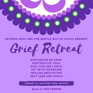 grief retreat poster